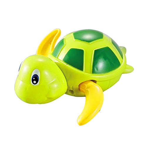 ERLOU Toys for Baby Children Cute Baby Bath Swimming Bath Pool Toy Cute Wind Up Turtle Animal Bath Toys Summer Toy Boys Girls Gifts (Green)