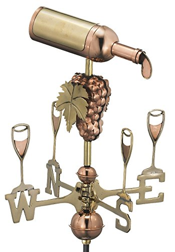 Good Directions 8843PG Wine Bottle Garden Weathervane, Polished Copper with Garden Pole