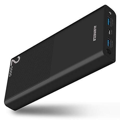 00mAh Quick Charge 3.0 Alongza Cell Phone Battery Charger External Battery Pack Power Bank Compatible with iPhone Xs XR X 8 7 6 iPad Samsung Galaxy S9 S8 S7 & Android Phones,Black ()