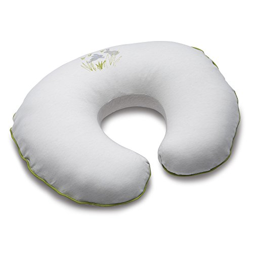 Boppy Pillow Slipcover, Organic Playful Rabbits, Gray - Boppy Cotton Slipcover