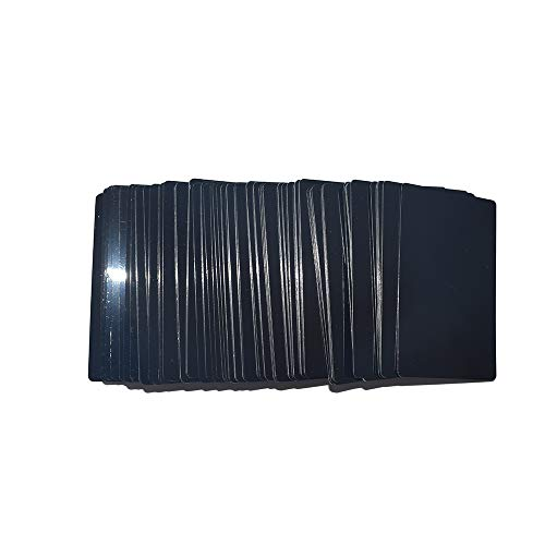 RETERMIT 100pcs Laser Engraved Metal Business Cards Blanks 3.4x2.1in Thickness 16 mil (0.40mm) Stainless Steel Business Cards Aluminum Business Cards (Black) by RETERMIT (Image #5)