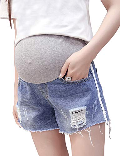 微生物スパークアボート快適なファッションデニムレディースマタニティショーツスリムフィットバンプジーンズ妊娠に最適 優れている Zhhlaixing