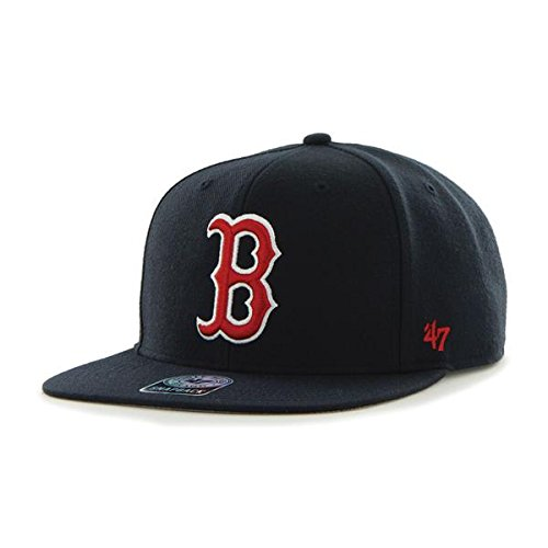 MLB Boston Red Sox Sure Shot Captain Wool Adjustable Hat, One Size, Navy East Champions Adjustable Cap