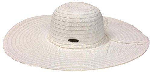 Panama Jack Women's Paper Braid Sun Hat (White, One Size) (Panama Jack Polarisierten Sonnenbrillen)