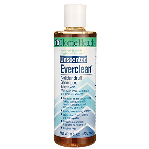 Home Health Antidandruff Shampoo, Everclean, Unscented, 8-Ounce