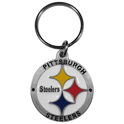 NFL Pittsburgh Steelers Carved Metal Key Chain