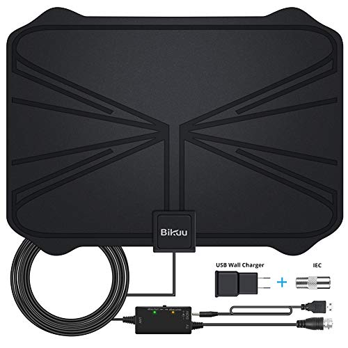 2019 Latest 130+ Miles Digital Amplified HD TV Antenna - Indoor TV Antenna 4K HD Freeview Life Local Channels All Type Television Local Channels w/Detachable Signal Amplifier and 16.5ft Longer Coax Ca (120 4 Channel Dvr)