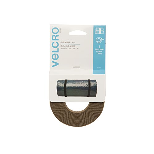 (VELCRO Brand - ONE WRAP Roll, Double-Sided, Self Gripping Multi-Purpose Hook and Loop Tape, Reusable, 12' x 3/4