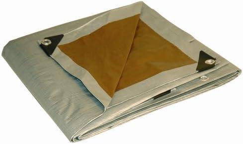 10x20 Multi-Purpose Silver/Brown Heavy Duty DRY TOP Poly Tarp (10'x20')