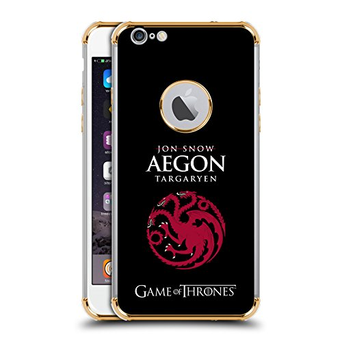 Official Hbo Game Of Thrones Jon Snow Aegon Graphics Gold Shockproof Fender Case For Iphone 6 Plus Iphone 6S Plus