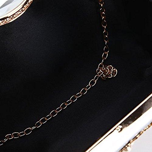Sac Perles Soirée Portefeuille Handbag Sac De Fleur à Main Féminin Pochette Wallet YOFO Black De xqAPXEX