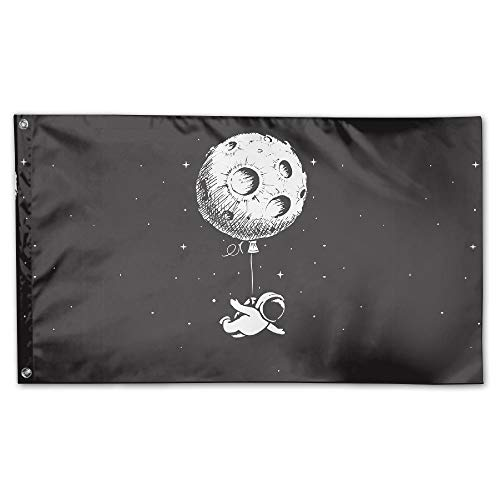 BINGOGING FLAG Decorative House Flags - Astronaut Flies With