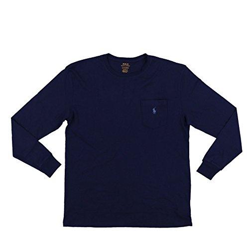 Long Shirt Cotton Polo Sleeve (Ralph Lauren Classic Fit Cotton Long Sleeve T-Shirt-N-L)