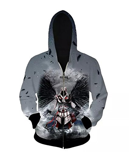 Kapuzepullover Herbst Winter Hoodie Männer Sport 7D printing Hooded Zipper für Film Cosplay Kleidung Kostüm Zubehör