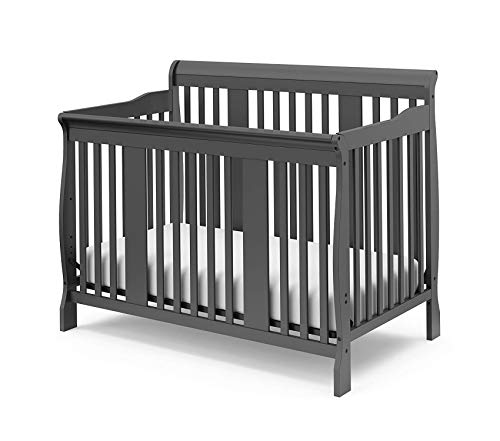 Deluxe Toddler Daybed - Wood & Style 4-in-1 Convertible Crib Espresso Easily Converts to Toddler Bed Day Bed or Full Bed 3 Position Adjustable Height Mattress Decor Comfy Living Furniture Deluxe Premium Collection