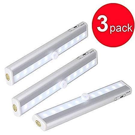 Sensor de Movimiento Luz 6 LED Plata Seguridad Luz Para Exteriores ...
