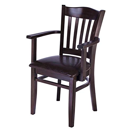 Beechwood Mountain Hybrid Dining Arm Chair in Dark Mahogany