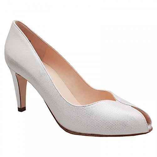 Peter Kaiser Sevilia Peep Toe High Heel Court Shoe White