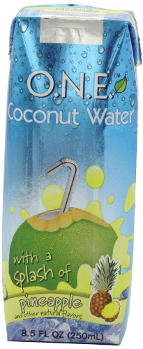 O.N.E. Coconut Water with a Splash of Pineapple, 8.5-Ounce Aseptic Containers (Pack of 12)