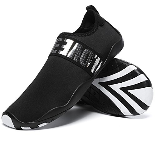 RUN Black Mesh Unisex silver Casual Flat Mutifunctional Outdoor Breathable L Shoes Wading Heeled Sports 7qf87dR