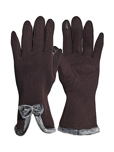 Beurlike Women's Winter Gloves Touch Screen Thick Fleece Lined Warmest Gloves