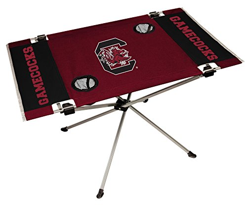 NCAA South Carolina Fighting Gamecocks NCAA Endzone Tailgate Table, Maroon, 31.5