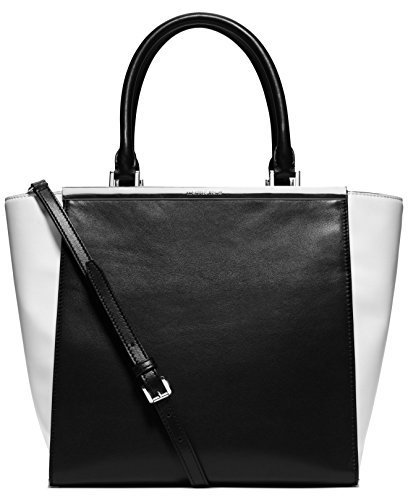 MICHAEL Michael Kors Lana Large Tote,Black/Optic White