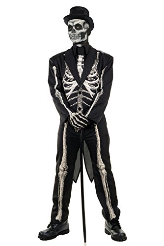 Men's Bone Chillin Skeleton Tuxedo Costume ()