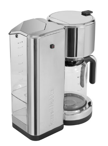 Modern stainless steel drip coffee maker