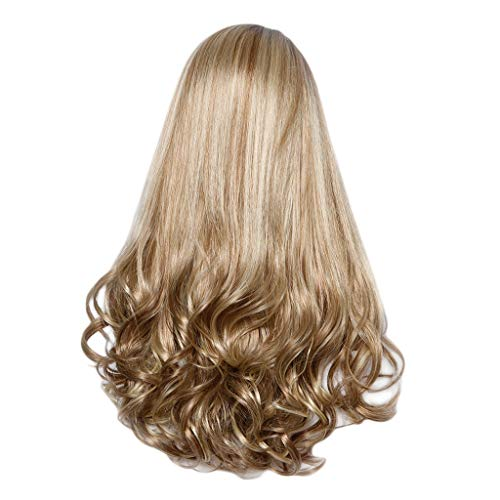Wig Clearance High Temperature Silk Wig Head Over Female Rose Net Long Curly Hair Wig by USLovee3000