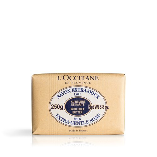 Shea Butter Bath Soap (L'Occitane Extra-Gentle Vegetable Based Soap Enriched with Shea Butter - Milk Scent, 8.8 oz. ( Packaging May Vary ))