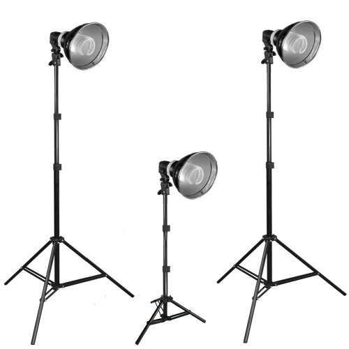PBL 600 Watt Photo Studio Potrait Lighting Kit Three Light Video Kit Steve Kaeser Photographic Lighting & Accessories by PBL