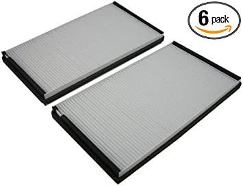 6 Pack for Maybach 57 5.5L 62 5.5L 06-09 03-09 00-06 03-09 //6.0L907-09 Pentius PHP8153-6PK UltraFLOW Cabin Air Filter 00-06 S series //6.0L 96-02, 06 ,E Series Mercedes CL