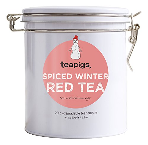 (teapigs Spiced Winter Red Tin - 20 Tea Temples, Spicy, 6 Ounce)