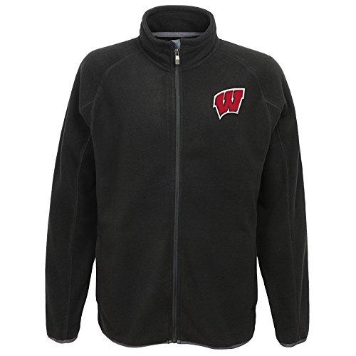 Badger Polar Fleece - NCAA Wisconsin Badgers Kids Scrimmage Polar Fleece Full Zip Jacket, Black, Kids Medium(5-6)