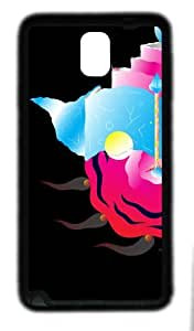 galaxy note 3 case,custom samsung galaxy note 3 case,TPU (Rubbber) Material,Drop Protection,Shock Absorbent,black case,Colour illustrations 1