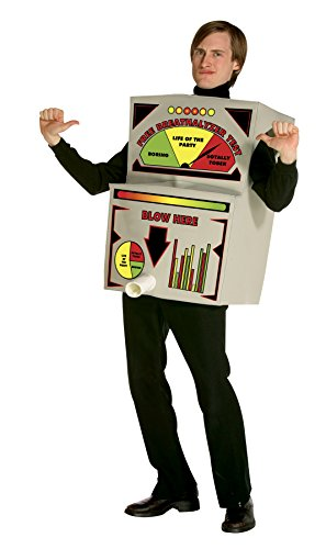 [UHC Men's Breathalyzer Funny Comical Theme Party Outfit Halloween Costume, L/XL (40-46)] (Halloween Breathalyzer Costume)