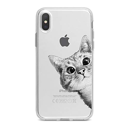 Lex Altern TPU iPhone Cases X Xs Max 8 Plus Xr 7 6s 6 SE 5s 5 Clear Apple Phone Cute Cover Cat Print Protective Animal Drawing Black White Lightweight -