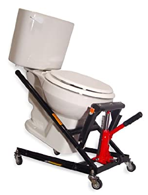 Toilet Master Jack Lifter designed to Easily Lift, Move, and Repair Toilets. Easy Bolt and Seal Replacement. For use with a Toilet Snake or Drain and Pipe Cleaners.