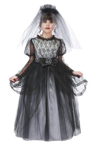 Dark Bride Costumes (Just Pretend Kids Dark Bride Costume with Hoop and Veil, Medium)