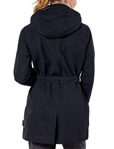 Jack Wolfskin Coat Manteau Trench noir ZBrqZwd