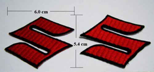 Suzuki Iron on Patches Motorcycle Embroidered 2 Pieces