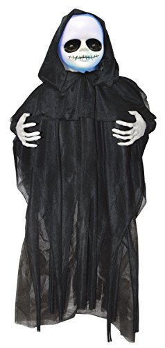 Black Cloaked Baby Doll Light Up Prop Hanging Battery Operated Halloween (Halloween Baby Doll Face)