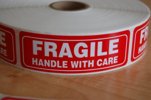 Pro TEK FRAGILE Sticker Handle With Care Shipping Labels-Self-Adhesive stickers (500 (1
