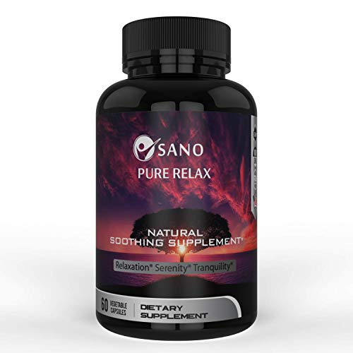 Sano Nutrition Natural Soothing Supplement: Stress Relief, Relaxation & Anxiety Calm Supplement| Ashwagandha & Vitamins Botanical Blend|Herbal Non-GMO USA-Made Energy & Mood Booster|60 Veggie Capsules