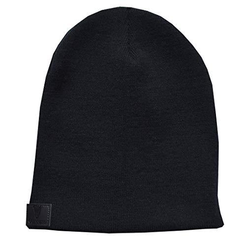 Guinness Black Floppy Knit Beanie Hat ()