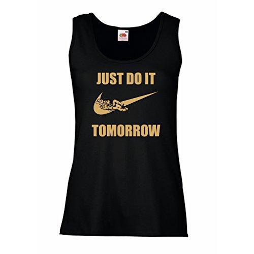 lepni.me Womens Tank Tops Just Do It Tomorrow - Workout Tops