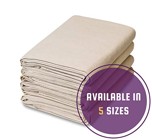 4 Piece Set Canvas Drop Cloth (9 feet x 12 feet) (Curtains Patio Drop Cloth)