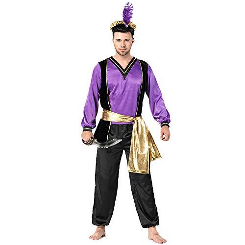 Adult Mens Arabian Prince King Costume Halloween Cosplay Fancy -