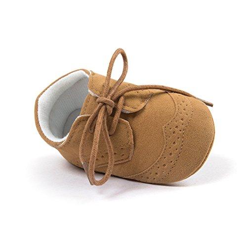 ESTAMICO Baby Boys Shoes Prewalker PU Sneakers Brown 6-12 Months